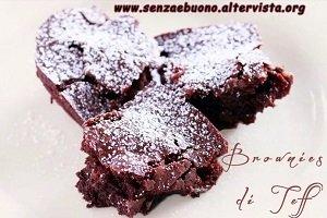 Brownies di teff senza glutine e senza lattosio